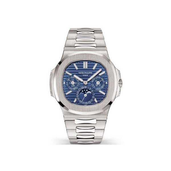 PATEK PHILIPPE NAUTILUS PERPETUAL CALENDAR 40MM 18KT WHITE GOLD MEN'S WATCH