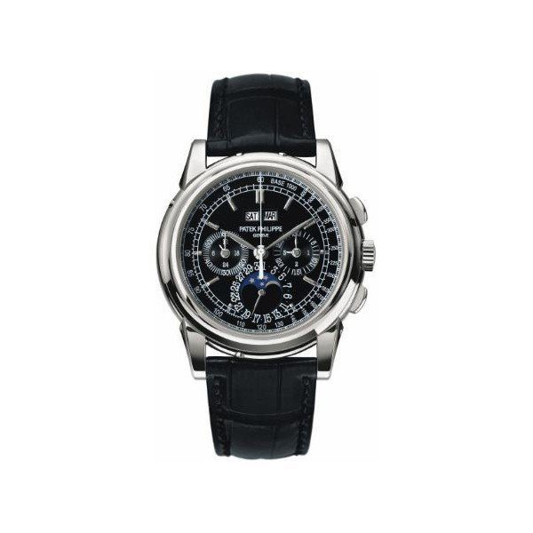 PATEK PHILIPPE PERPETUAL CALENDAR CHRONOGRAPH 40MM PLATINUM MEN'S WATCH