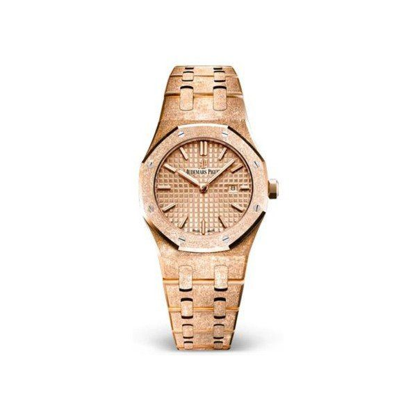 AUDEMARS PIGUET ROYAL OAK 33MM FROSTED 18KT ROSE GOLD LADIES WATCH