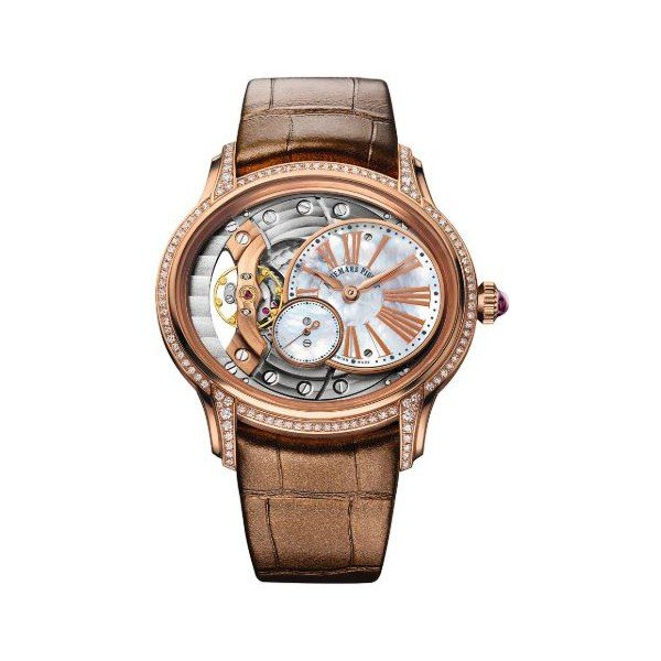 AUDEMARS PIGUET MILLINARY HAND WOUND 18KT ROSE GOLD 39.5MM LADIES WATCH