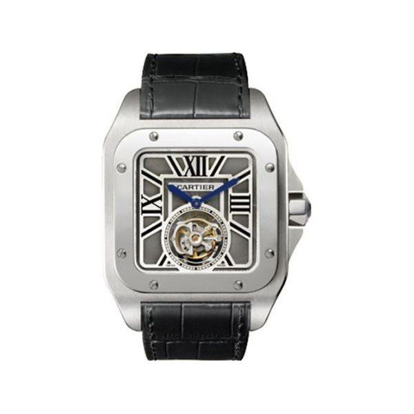 CARTIER SANTOS 100 FLYING TOURBILLON LIMITED EDITION 46.5MM X 54.9MM 18KT WHITE GOLD MEN'S WATCH