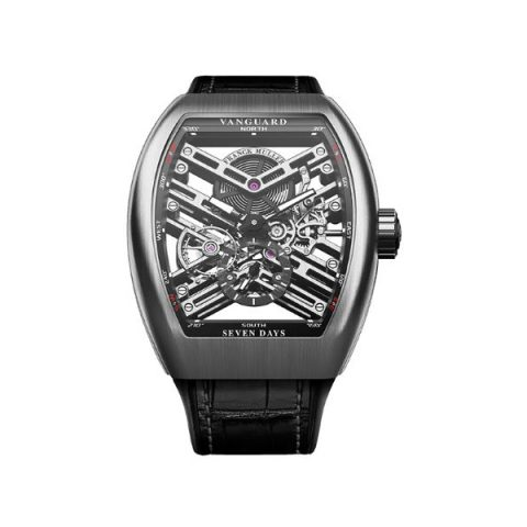 FRANCK MULLER VANGUARD SKELETON 53.7MM STAINLESS STEEL MEN'S WATCH
