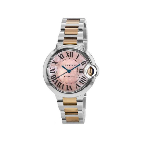 CARTIER BALLON BLEU MOP DIAL 33MM STAINLESS STEEL LADIES WATCH
