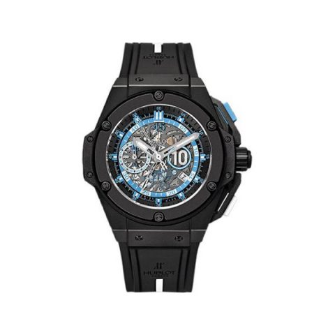 HUBLOT BIG BANG MARADONA 48MM MICROBLASTED BLACK CERAMIC MEN'S WATCH