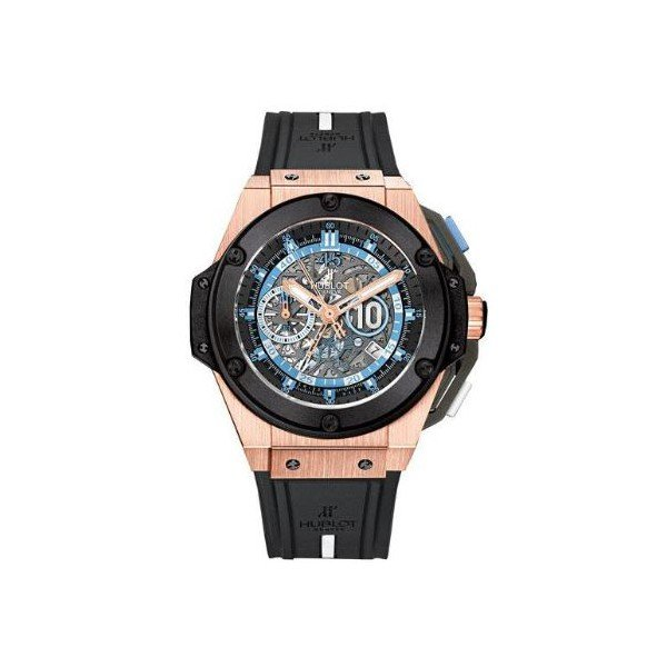 HUBLOT KING POWER MARADONA SKELETON DIAL 48MM 18KT ROSE GOLD LIMITED EDITION OF 200 PCS MEN'S WATCH