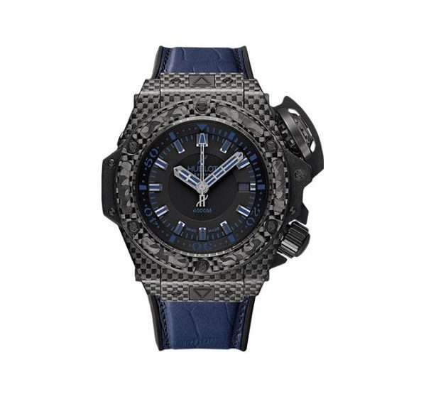 HUBLOT BIG BANG KING POWER OCEANOGRAPHIC 4000 ALL BLACK BLUE LIMITED EDITION OF 500 48MM MEN'S WATCH