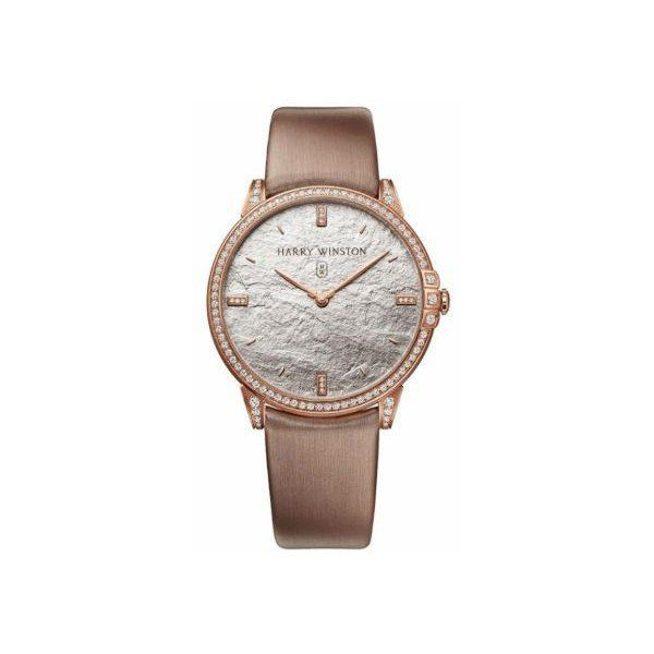 HARRY WINSTON MIDNIGHT MONOCHROME DIAMOND 39MM 18KT ROSE GOLD LADIES WATCH