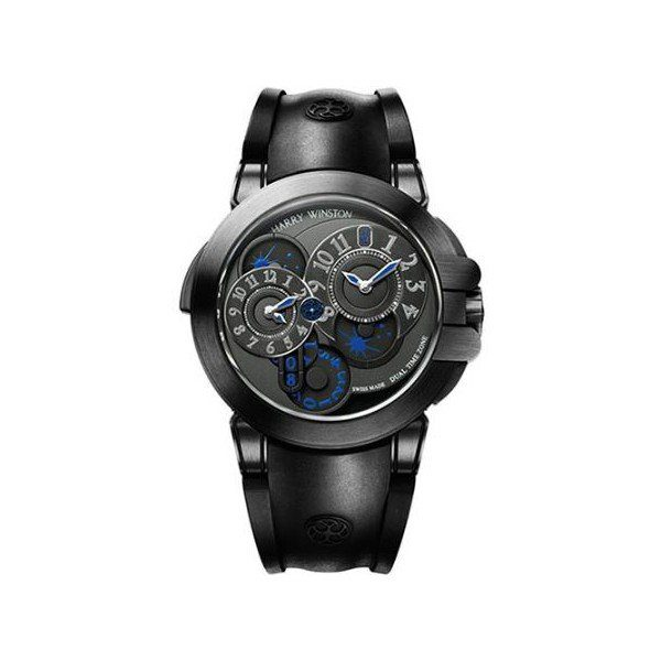 HARRY WINSTON 44MM ZALIUM MEN'S WATCH