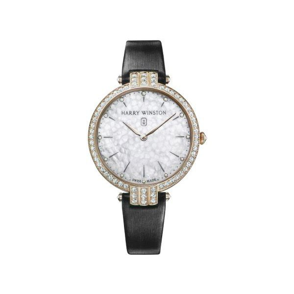 HARRY WINSTON PREMIER 39MM 18KT ROSE GOLD LADIES WATCH