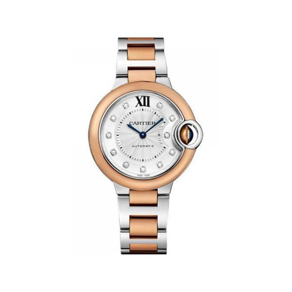 CARTIER BALLON BLEU 33MM STAINLESS STEEL LADIES WATCH