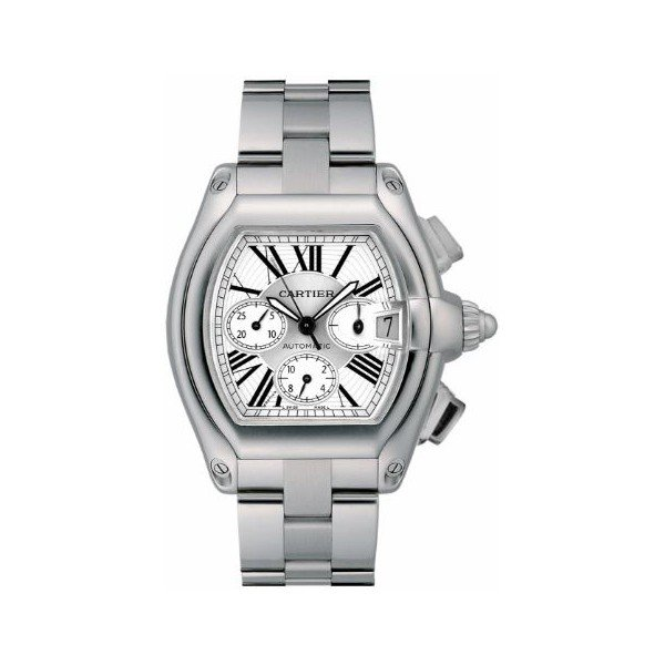 CARTIER ROADSTER XL STAINLESS STEEL MEN'S WATCH