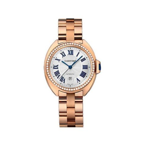 CARTIER CLE DE CARTIER 31MM 18KT ROSE GOLD LADIES WATCH