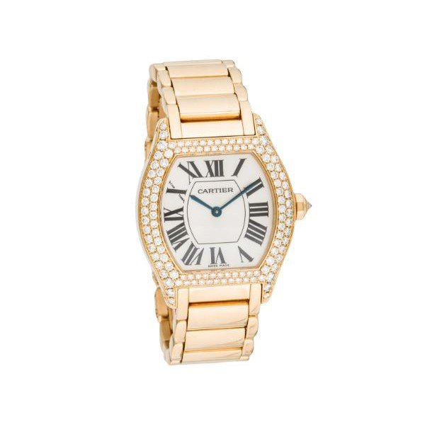 CARTIER TORTUE 28.5MM 18KT YELLOW GOLD LADIES WATCH