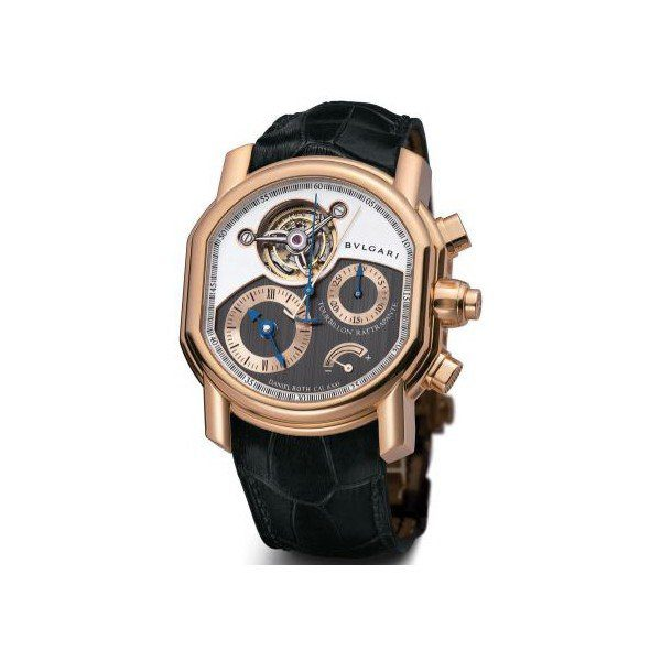 BVLGARI DANIEL ROTH TOURBILLON RATTRAPANTE 46MM 18KT ROSE GOLD MEN'S WATCH