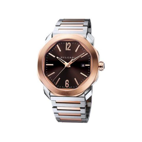 BVLGARI OCTO ROMA 41MM STAINLESS STEEL & 18KT ROSE GOLD MEN?S WATCH