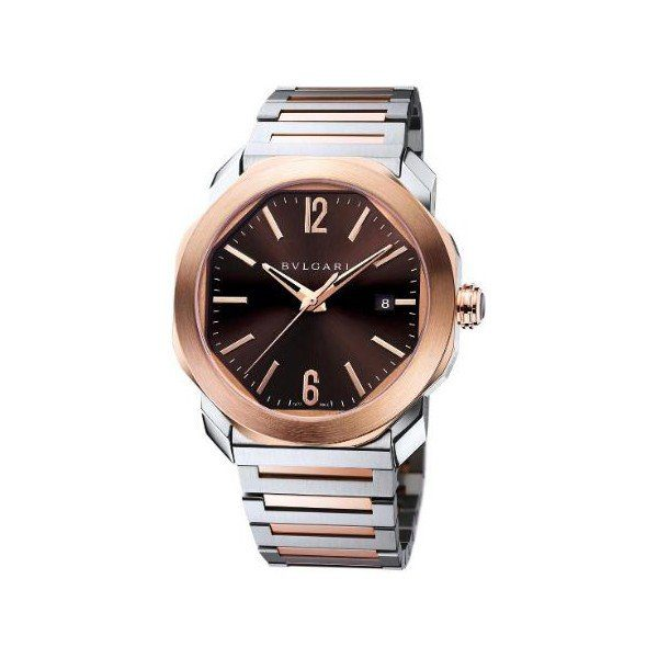 BVLGARI OCTO ROMA 41MM STAINLESS STEEL & 18KT ROSE GOLD MEN'S WATCH