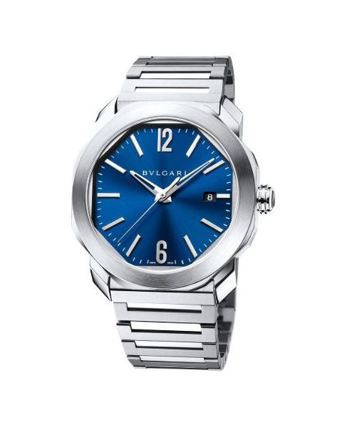 Bvlgari Pre-Owned Octo Roma 41mm Stainless Steel Men's Watch