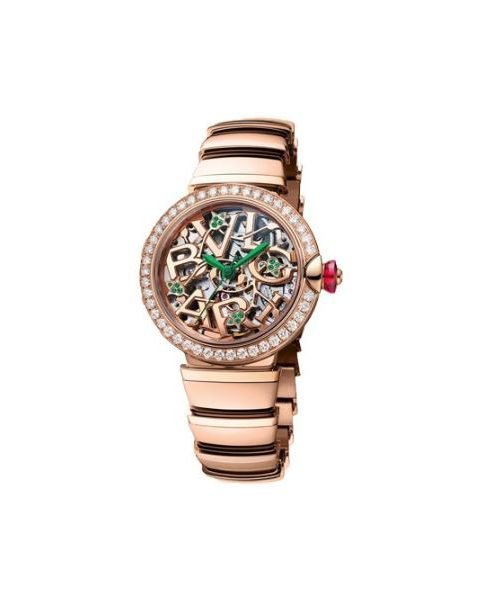 BVLGARI LVCEA 33MM 18KT ROSE GOLD SPECIAL EDITION LADIES WATCH