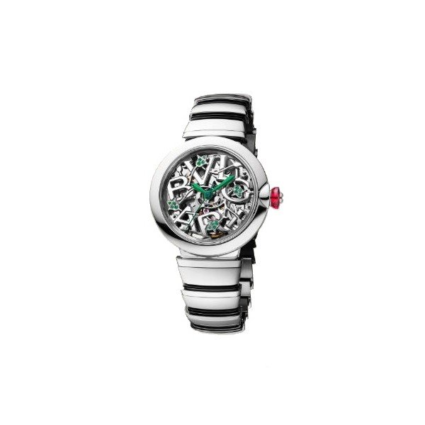 BLVGARI LVCEA SKELETON 33MM STAINLESS STEEL LADIES WATCH