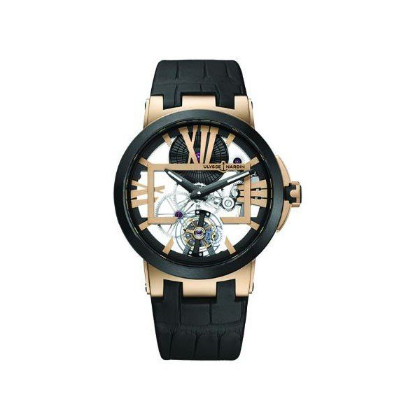 ULYSSE NARDIN EXECUTIVE SKELETON TOURBILLON 45MM 18KT ROSE GOLD MEN'S WATCH