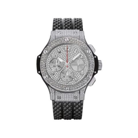 HUBLOT BIG BANG PAVE 41MM STAINLESS STEEL MEN'S WATCH
