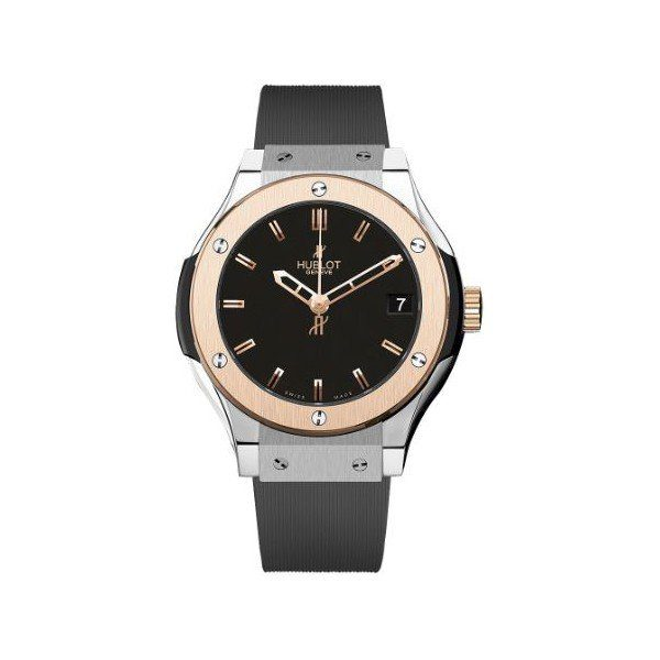 HUBLOT CLASSIC FUSION KING GOLD 33MM TITANIUM LADIES WATCH