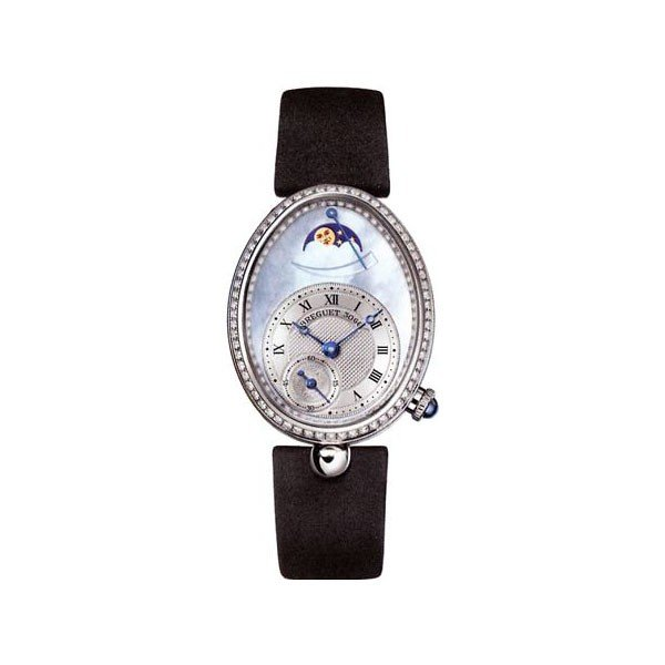 BREGUET REINE DE NAPLES POWER RESERVE 28.45MM X 36.5MM 18KT WHITE GOLD LADIES WATCH