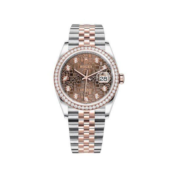 ROLEX DATEJUST 36MM STAINLESS STEEL & 18KT ROSE GOLD UNISEX WATCH