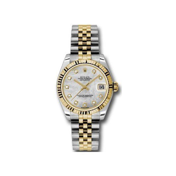 ROLEX DATEJUST 31MM STAINLESS STEEL LADIES WATCH