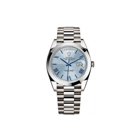 ROLEX PERPETUAL DAY-DATE 40MM PLATINUM MEN'S WATCH