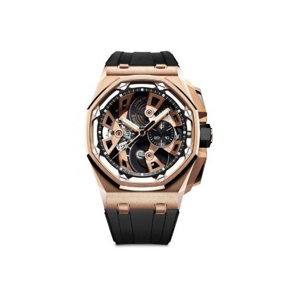 AUDEMARS PIGUET ROYAL OAK OFFSHORE TOURBILLON CHRONOGRAPH LIMITED EDITION OF 50 PIECES 45MM 18KT ROSE GOLD MEN'S WATCH