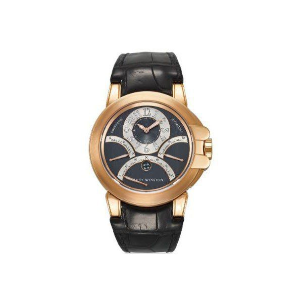 HARRY WINSTON TRIPLE RETROGRADE CHRONOGRAPH  44MM 18KT ROSE GOLD MEN'S WATCH