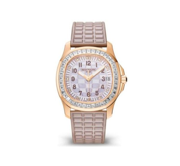 PATEK PHILIPPE AQUANAUT LUCE HAUTE JOAILLERIE ROSE GOLD LADIES WATCH Ref. 5072R-001