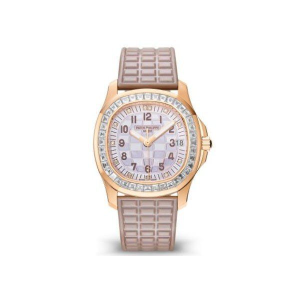 PATEK PHILIPPE AQUANAUT 35MM 18KT ROSE GOLD LADIES WATCH