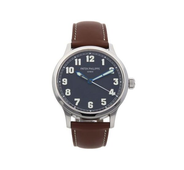 Patek Philippe Pre-Owned Calatrava Pilot's New York Limited Edition Stainless Steel Men's Watch