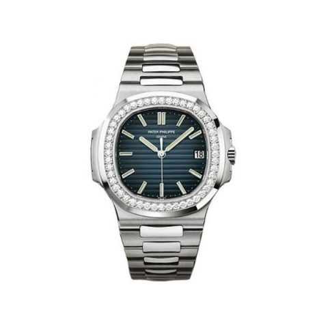 PATEK PHILIPPE NAUTILUS 40MM 18KT WHITE GOLD MEN'S WATCH