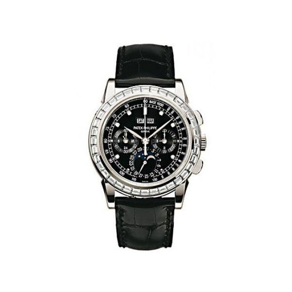 PATEK PHILIPPE GRAND COMPLICATIONS PERPETUAL CALENDAR 40MM PLATINUM MEN'S WATCH