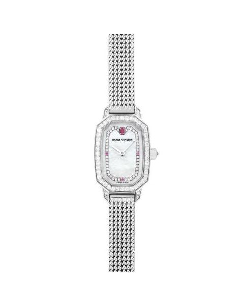 Harry Winston Pre-owned Emerald Collection 17.8mm X 24mm 18kt White Gold Ladies Watch