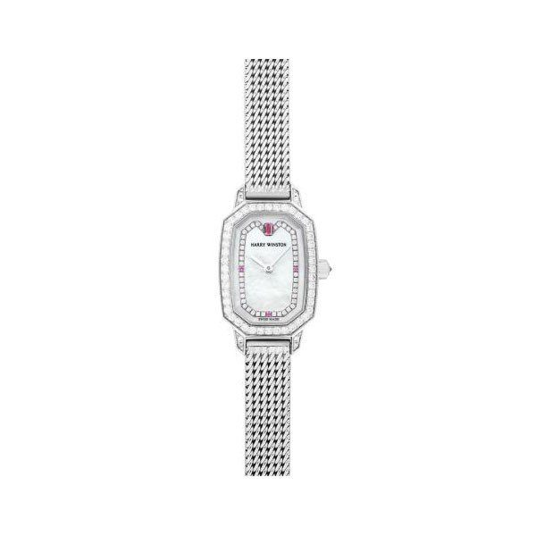 HARRY WINSTON EMERALD COLLECTION 17.8MM X 24MM 18KT WHITE GOLD LADIES WATCH