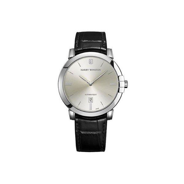 HARRY WINSTON MIDNIGHT 42MM 18KT WHITE GOLD MEN'S WATCH