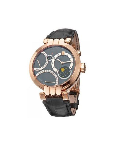 Harry Winston Pre-owned Premier Excenter Perpetual Calendar 41mm 18kt Rose Gold Men's Watch