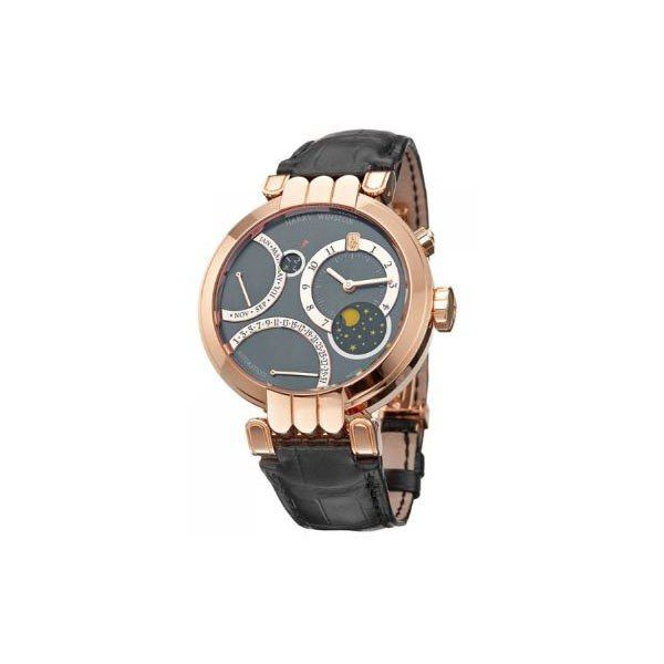 HARRY WINSTON PREMIER EXCENTER PERPETUAL CALENDAR 41MM 18KT ROSE GOLD MEN'S WATCH