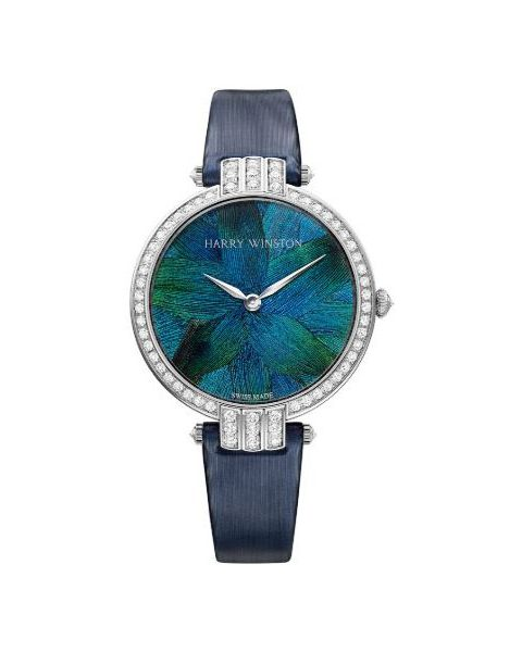 Harry Winston Pre-owned Premier Feathers 36mm 18kt White Gold Ladies Watch
