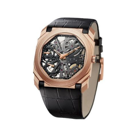 BVLGARI OCTO FINISSIMO EXTRA THIN 40MM 18KT ROSE GOLD MEN'S WATCH