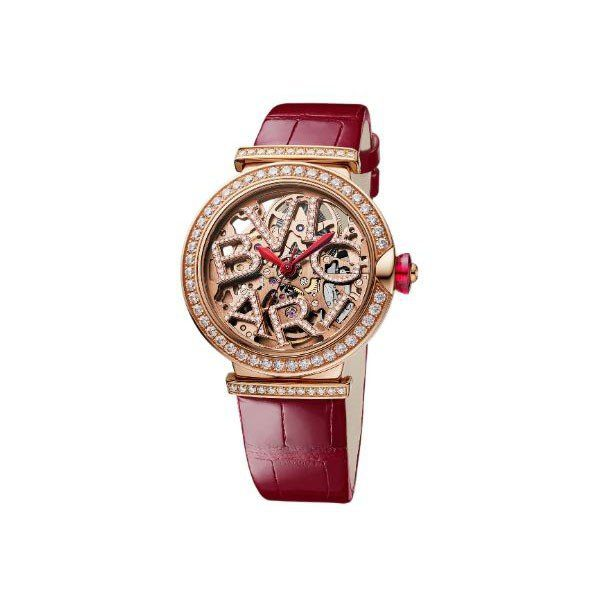 BVLGARI LUCEA 33MM 18KT ROSE GOLD LADIES WATCH