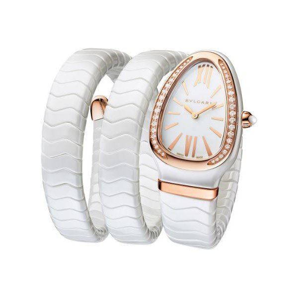 BVLGARI SERPENTI SPIGA 35MM CERAMIC LADIES WATCH
