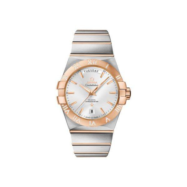 OMEGA CONSTELLATION CO-AXIAL 38MM STAINLESS STEEL & 18KT ROSE GOLD MEN'S WATCH