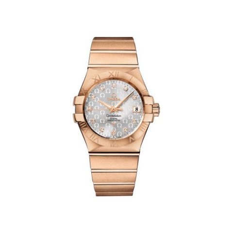 OMEGA CONSTELLATION CO-AXIAL CHRONOMETER 35MM 18KT ROSE GOLD MEN'S WATCH REF 123.50.35.20.52.003