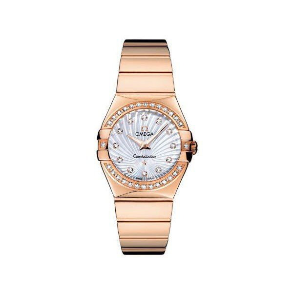 OMEGA CONSTELLATION 27MM 18KT ROSE GOLD LADIES WATCH