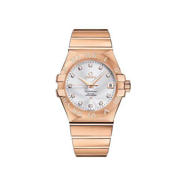 OMEGA CONSTELLATION CO-AXIAL 35MM 18KT ROSE GOLD LADIES WATCH